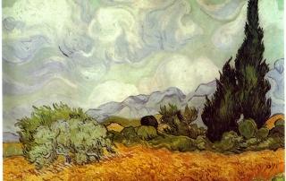 Van-Gogh-wheatfield and tree